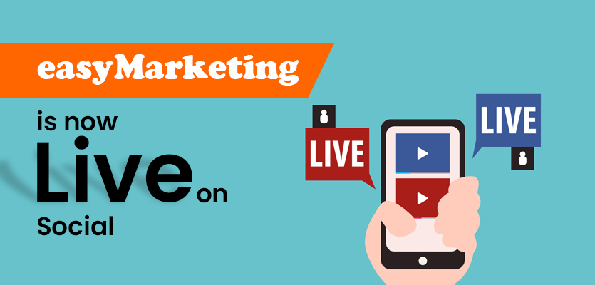 easyMarketing is now live on Twitter, Facebook, Instagram and LinkedIn